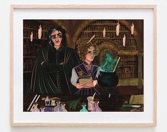 Master and Apprentice Illustration Fanart