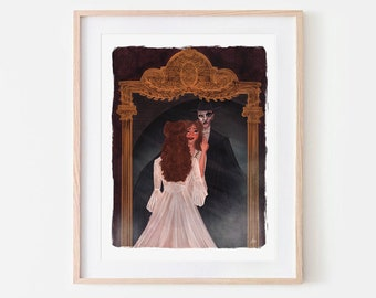 Phantom of the Opera Mirror Illustration Angel of Music Fanart