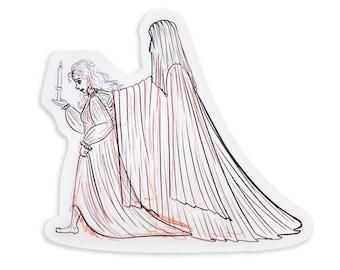 The Guardian Original Character Sketch Art Sticker