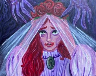 The Bride of Phantom Manor Melanie Ravenswood Haunted Mansion Original Painting