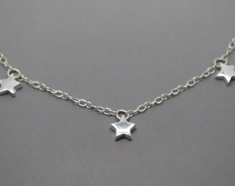 Triple Silver Star Necklace - Solid Sterling 925 Tiny Three Star Necklace  Sophie Mama Mia 2f9c8c3af1
