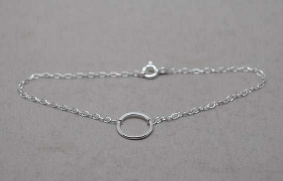 Silver Karma Necklace Sterling 925 Eternity Infinity 3 Triple Ring Friendship