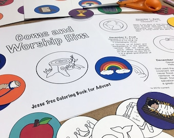 Printable Jesse Tree Coloring Book and Ornaments