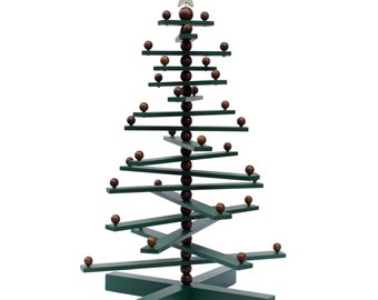 Wood Christmas tree, beaded 2ft