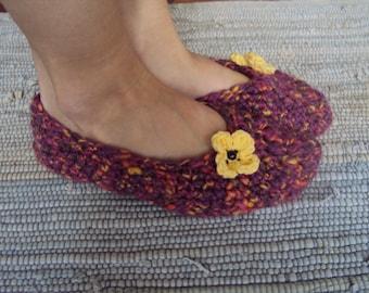 slippers pink slippers crocheted slippers women slippers house slippers