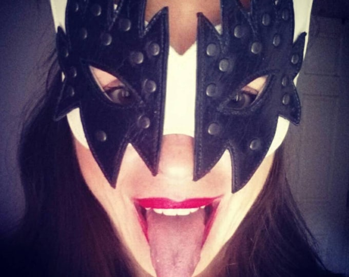 I was Made For Loving You Upcycled Leather Mask