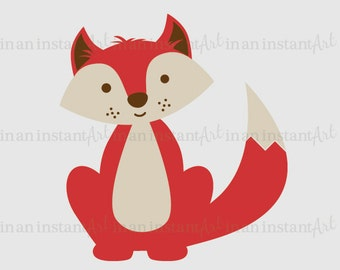 Forest Animal Vinyl Wall Decal | Fox Vinyl Wall Decal for a Woodland Nursery, Kid's Room Decor | Easy Application 529