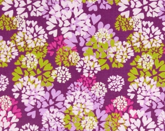 SALE -Nel Whatmore - Free Spirit Fabric - Memory Lane - Agapanthus - Purple - Choose Your Cut-1/2 or Full Yard