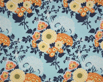 Joel Dewberry Fabric - Botanique Collection - Bold Bouquet - Deep Water-Choose Your Cut-1/2 or Full Yard