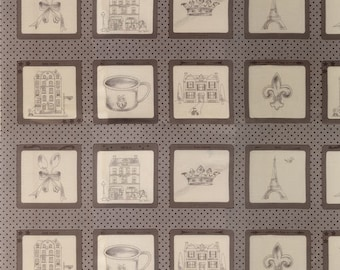 CLEARANCE - Ooh La La Collection by Bunny Hill - Baby Panel - Grey/Taupe - Moda Fabrics