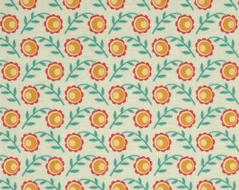 Joel Dewberry Fabric - Botanique Collection - Camelia - Butter -Choose Your Cut-1/2 or Full Yard