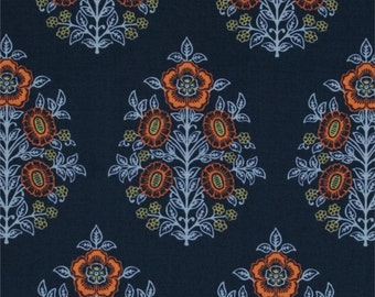 Joel Dewberry Fabric - Botanique Collection - Provincial - Deepwater -Choose Your Cut-1/2 or Full Yard