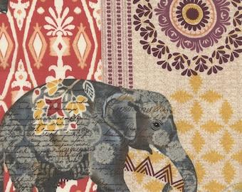 Timeless Treasures - Elephant Suzani Caravan - Multi - Novelty Fabric-Choose Your Cut 1/2 or Full Yard