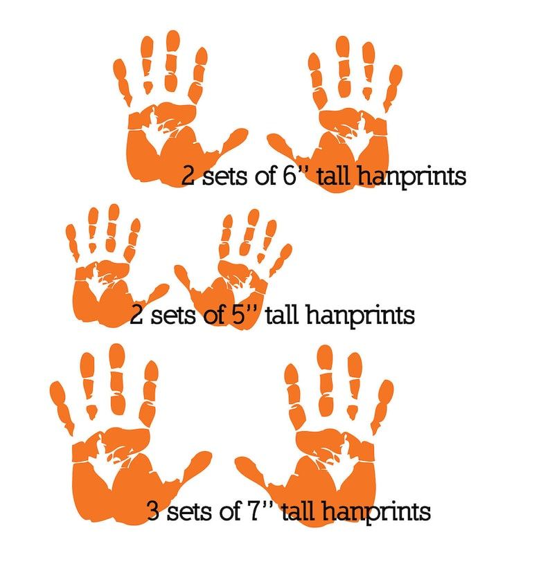 Handprints wall decal removable multiple handprints decal