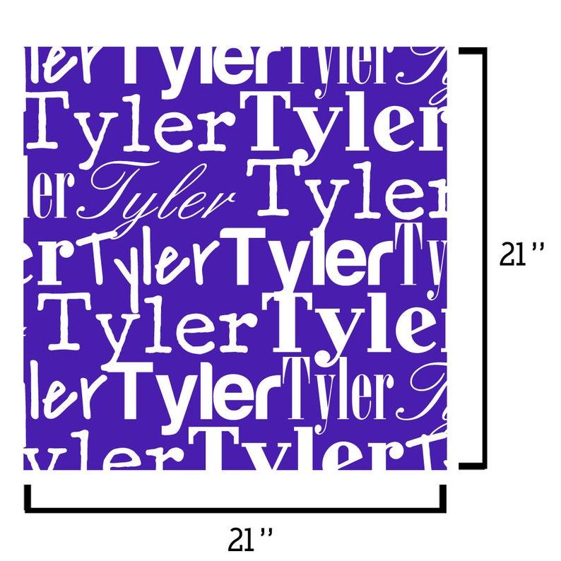 Custom typography name wall decal Name Wall decal