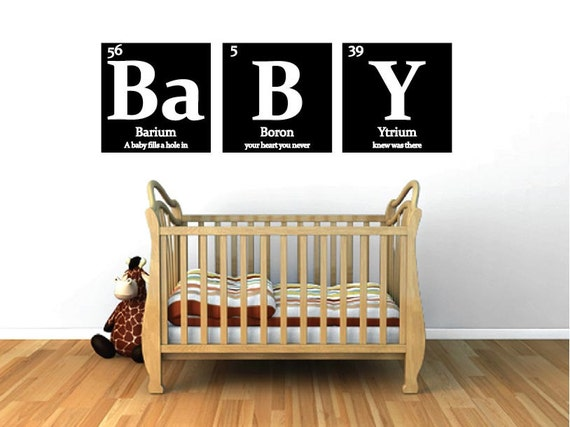 Nursery Decal Baby Periodic Table Of Elements With Quote Etsy