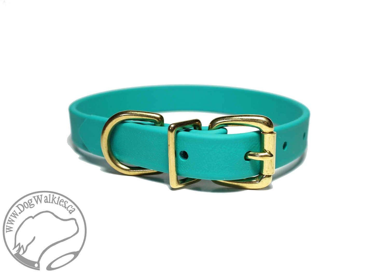 Teal Blue Dog Collar