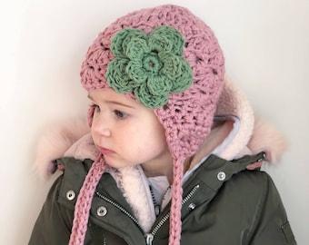 girls winter hat, baby girl hat, Baby hat, kids hat, girls hat, pink baby hat, little girls hat, blush hat, rose pink hat, girls winter hat
