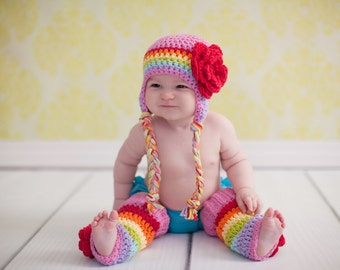 7276388a4ddd chapeau d hiver filles, chapeau arc en ciel, les filles arc en ciel  chapeau, chapeau les filles, petit chapeau les filles, bonnet fille en  crochet, ...