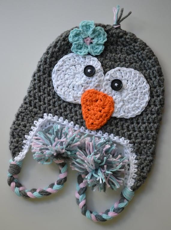 Baby Hat Penguin Hat Girls Penguin Hat Crochet Penguin Hat