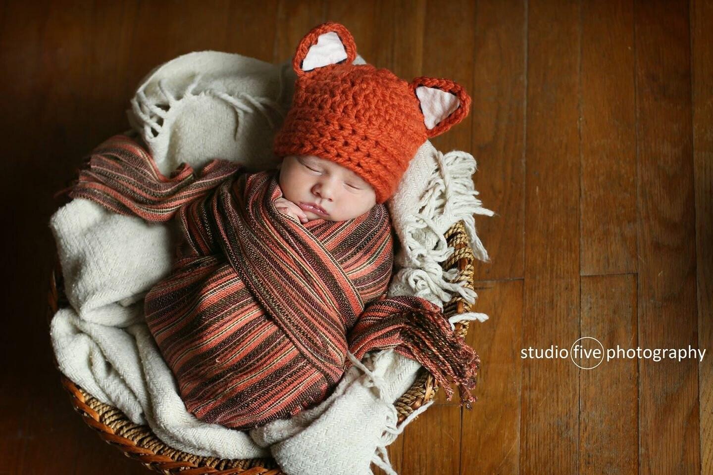 Fuchs Fuchs Babymütze Hut Baby Boy Hut häkeln fuchshut | Etsy