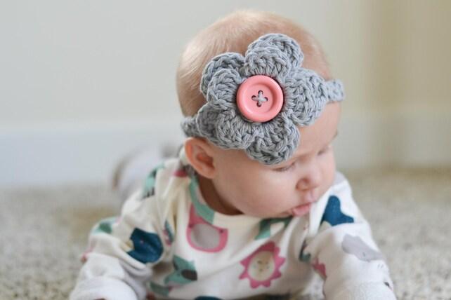 Häkeln Sie babystirnband Häkeln Sie babystirnband mit Blume   Etsy