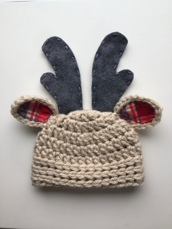 Christmas Hat Baby Christmas Hat Reindeer Hat Newborn Boy Hat