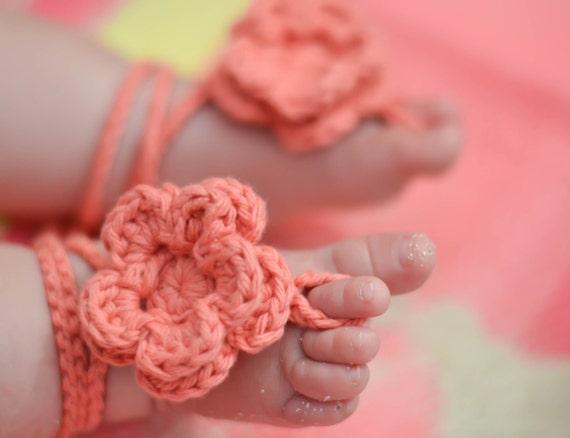 Baby-Sandalen barfuß babysandalen häkeln babysandalen | Etsy