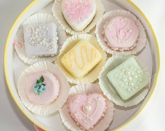 petit fours faux confection baby shower bridal shower tea party
