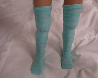 """/""""NEW/"""" - Colonial//Re-Enacting Aqua 100/% Cotton Long Over the Knee Socks -"""