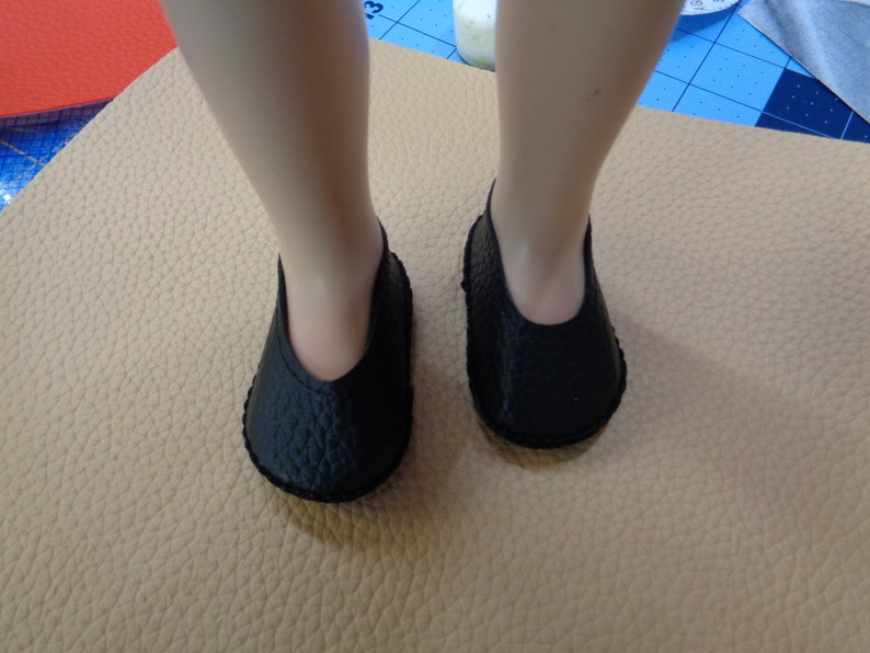 a815508ea1987 Black Doll Shoes--Fits A Girl for All Time - and Sasha Dolls