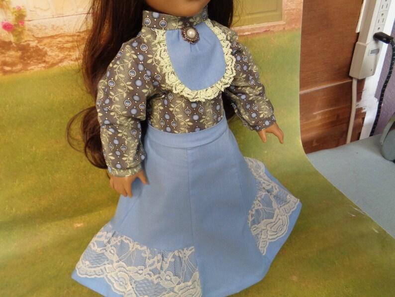 "Blouse Doll Clothes 18/"" Pants Purse Carpatina Fits American Girl"