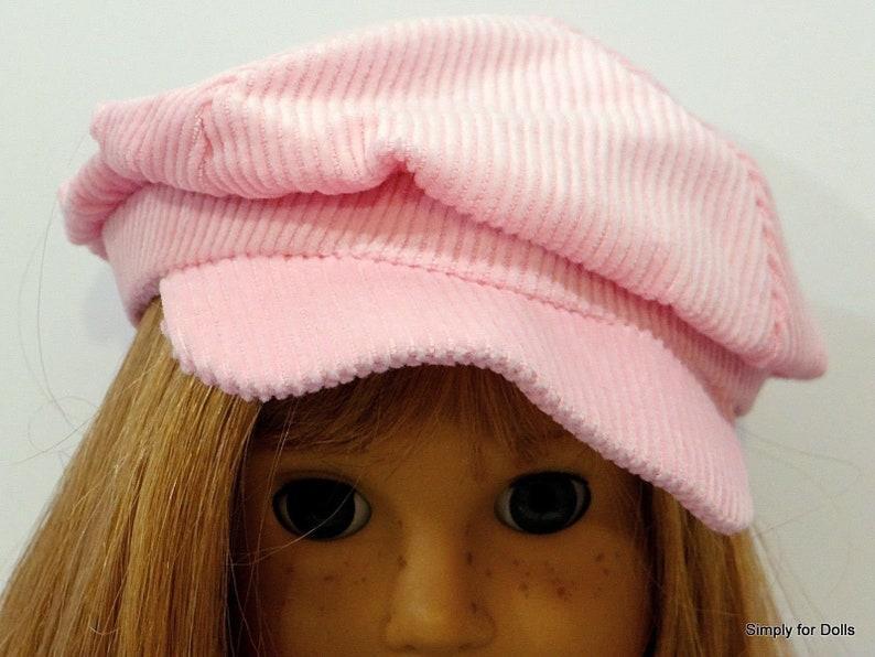 "PURPLE Corduroy NEWSBOY DOLL CAP HAT fits 18/"" AMERICAN GIRL Doll Clothes"