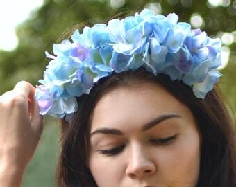 Blue Hydrangea Headband