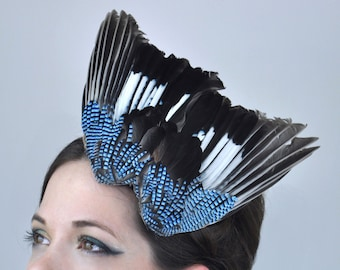 Perching Jay Wing Headpiece
