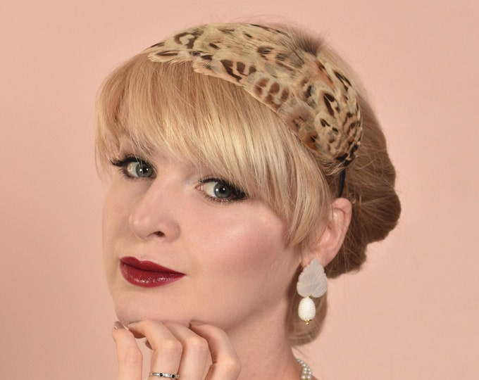 Hen Pheasant Feather Headband Fascinator