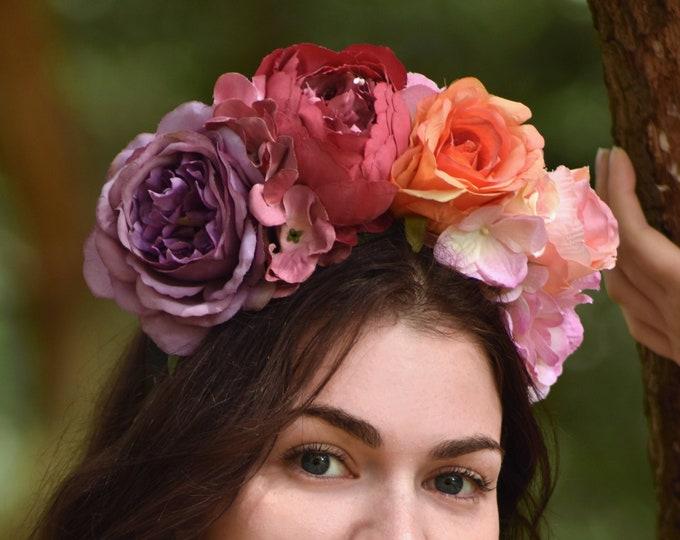 Sadie - Ombre Flower Crown Headband
