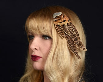 Pheasant and Partridge Feather Hair Clip Fascinator
