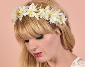 White Flower Crown Garland