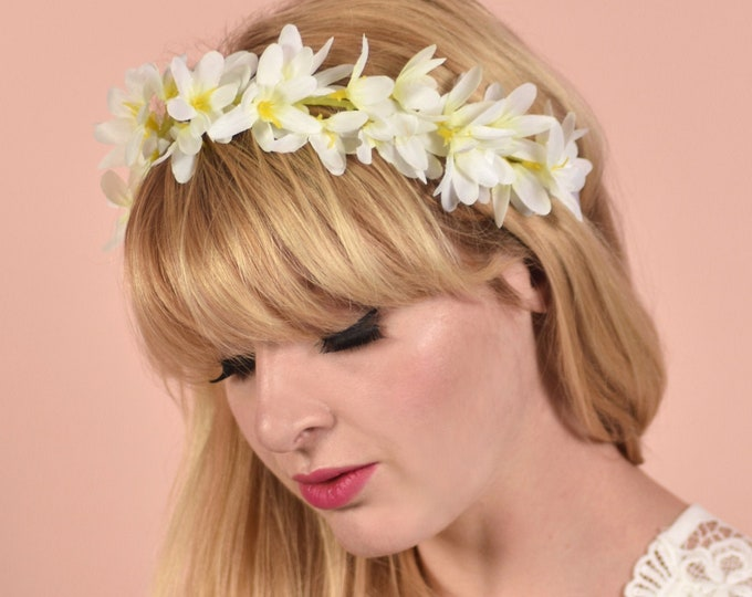 White Flower Crown Garland