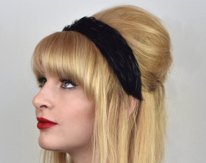 Feather Headband in Black