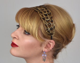 Feather Headband in Natural Hen Pheasant Feathers