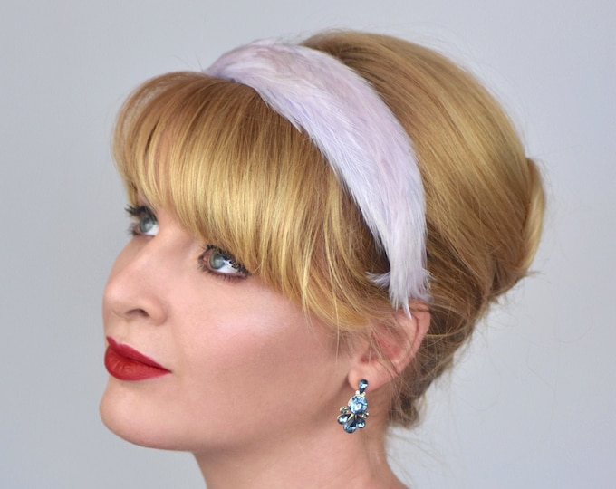 Feather Headband in Pastel Violet