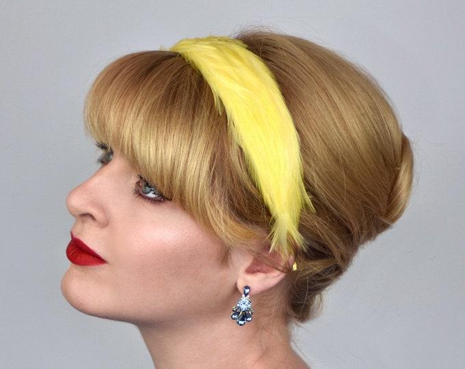 Feather Headband in Primrose Yellow