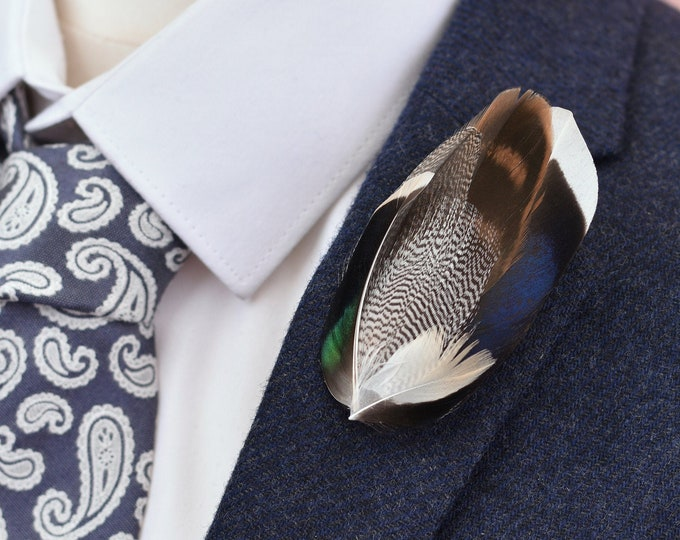 Duck Feather Lapel Pin