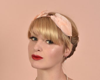 Blush Pink Double Wing Feather Halo Headband