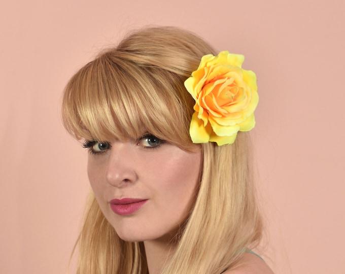 Yellow Rose Hair Clip