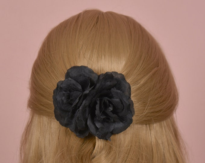 Back Double Rose Hair Clip