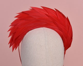 Red Halo Feather Headpiece