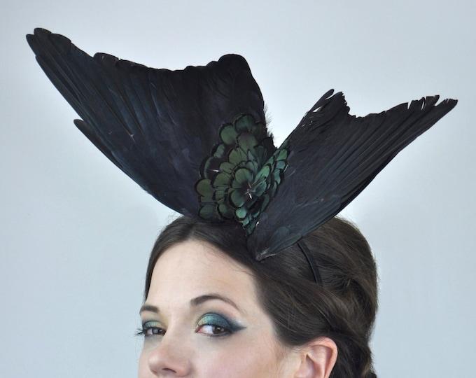 Black Wing Fascinator Headpiece